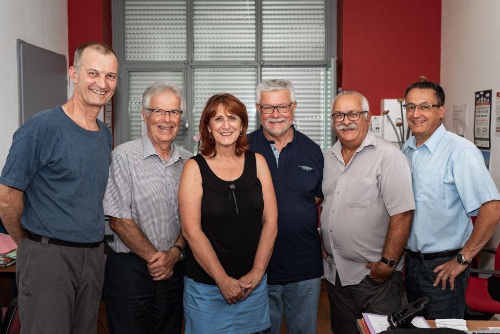 2018-07-26 - Membres du Bureau V.Bonhomme-JM.Rozier-M.Geoffroy-A.Mauras-P.Tourlonias-JC.Chenu-2